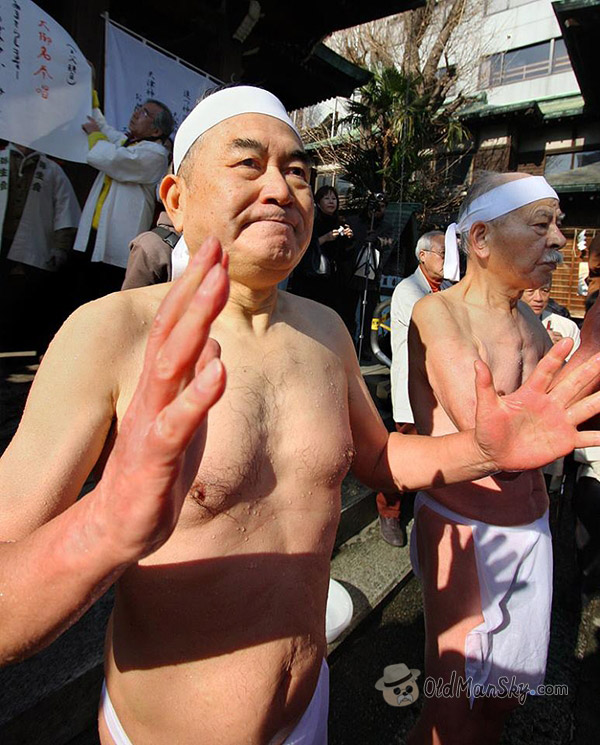 Japanese swimming old men