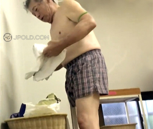 Old daddy was put on his plaid boxer underwear